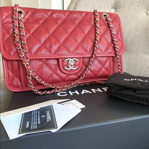 CHANEL Bags - 💋HOT💋 CAVIAR FLAP Double chain CHANEL